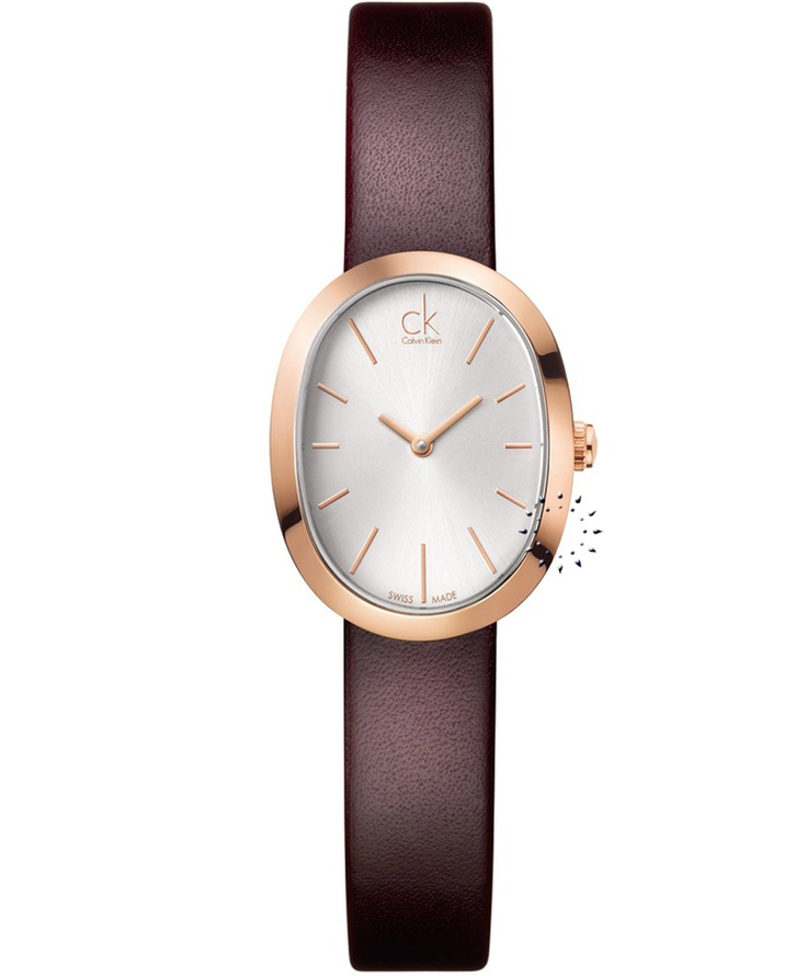 CALVIN KLEIN Incentive Brown Leather Strap  Τιμή: 241€  http://www.oroloi.gr/product_info.php?products_id=31844