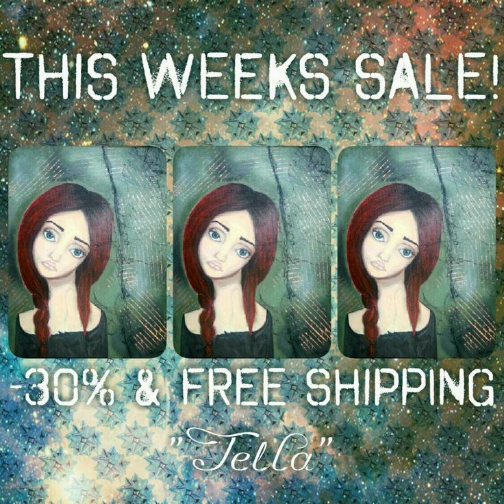 "This weeks sale is ""Tella"" with 30% off and free shipping!"