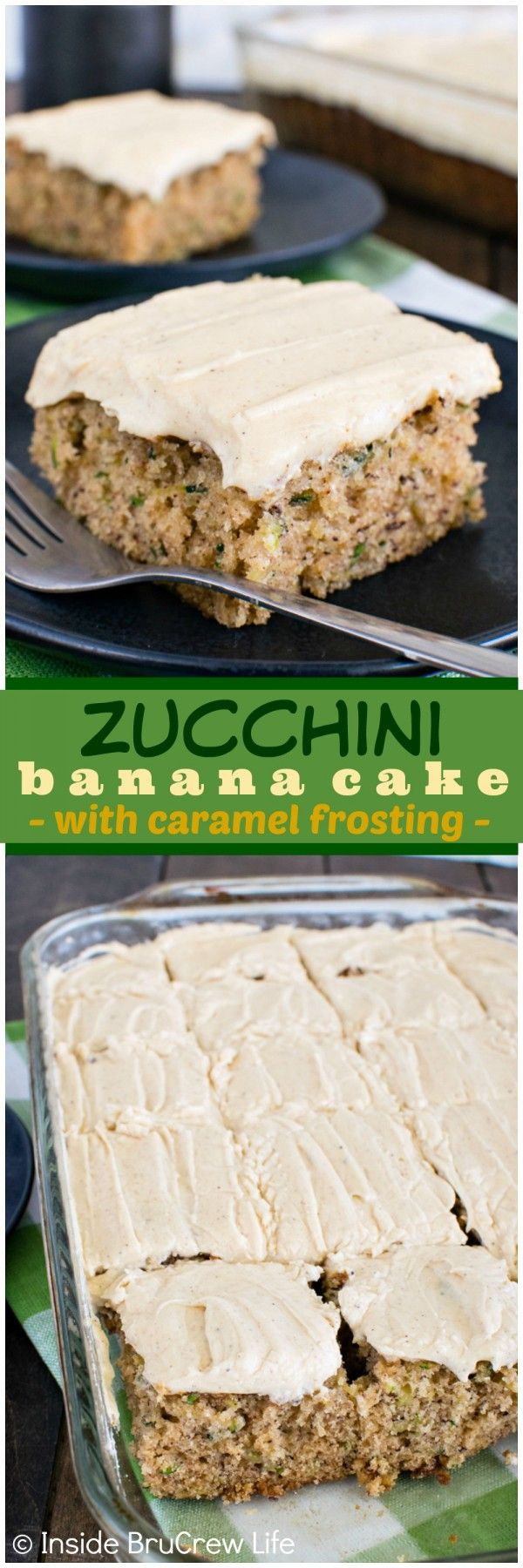 This Zucchini Banana Cake is seriously such a popular way way to use up the extra veggies from the garden! Awesome dessert recipe!