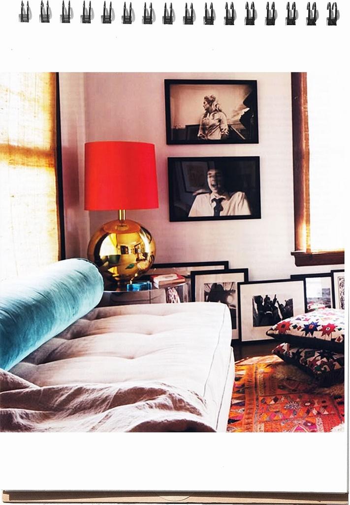 Velvet Sofa# Brass Lamp#