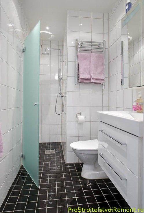 Дизайн и интерьер ванной комнаты с душевой кабиной фото