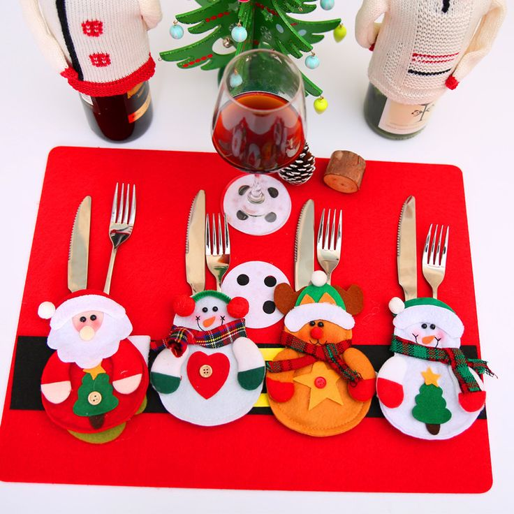 Christmas Cutlery Silverware Holders - 12 Pcs //Price: $17.78 & FREE Shipping //     }