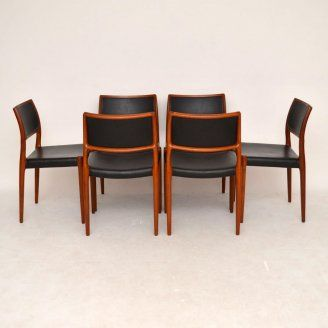 Danish Retro Dining Chairs For Sale London Moller