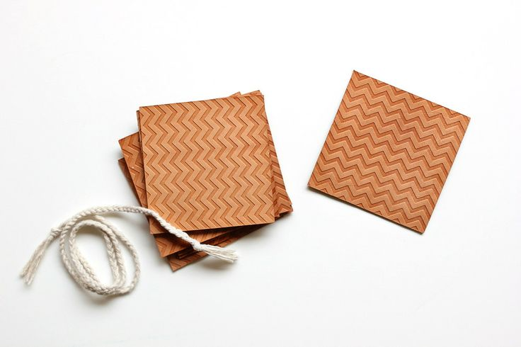 embossed leather coasters DIY