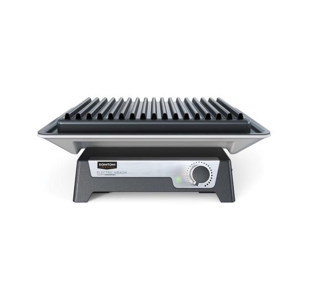 A revolution in electric grills, the Downtown Grill Electric Hibachi has perfect even heating up to 700 degrees F. Both indoor and outdoor use.
