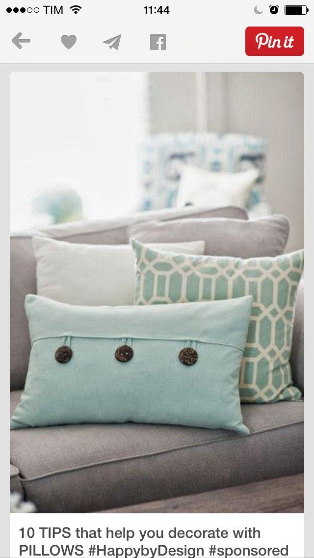 Aqua blue pillows