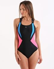 Aqua Sphere Siskin Swimsuit - Black and Dark Pink The vibrant Aqua Sphere Siskin ladies swimsuit is completely chlorine resistant and ideal for fitness swimming, classes or training http://www.MightGet.com/january-2017-13/aqua-sphere-siskin-swimsuit--black-and-dark-pink.asp