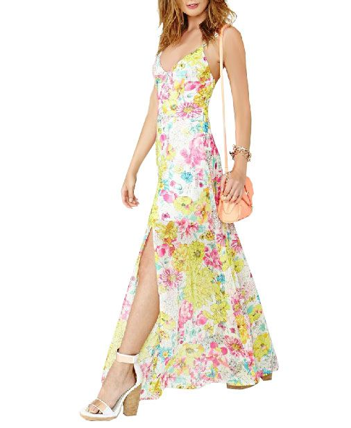 Floral Maxi Dress with Slits