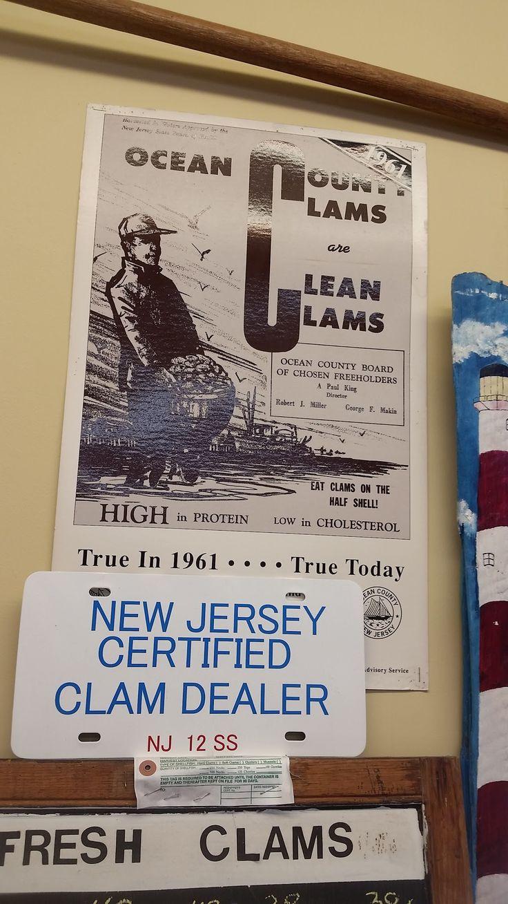 NJ Certified clam dealer