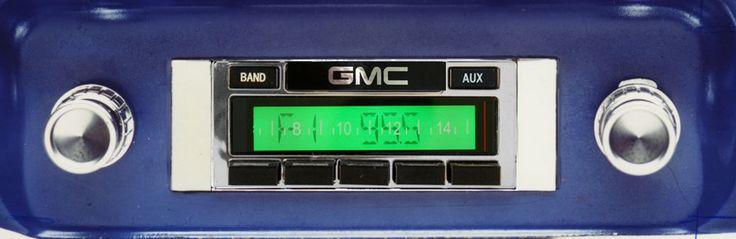 1964-1966 GMC Pickup Truck  AM FM Stereo Radio USA-230 200 watts mp3 Aux input _