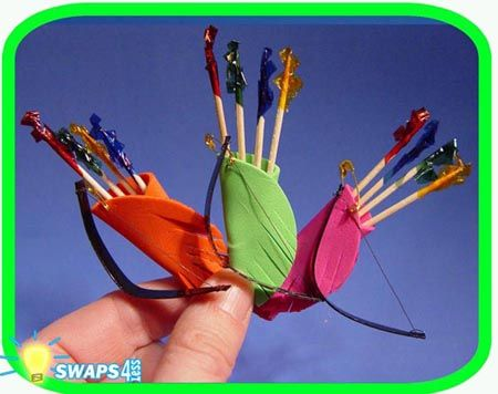 archery swaps ( where was this idea when I needed one for Girl Scout swaps )