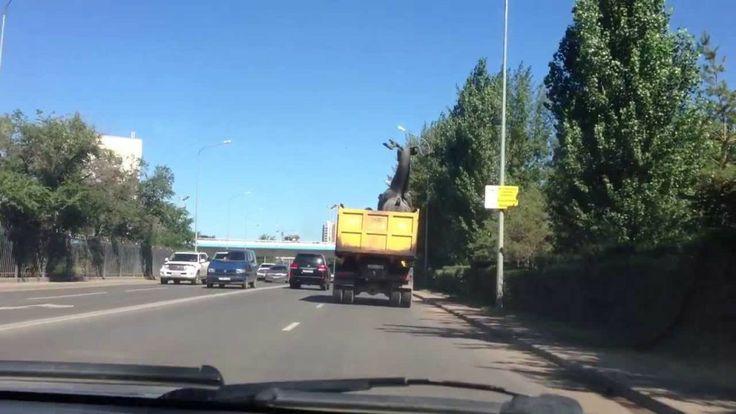 Motorista destrói estátua ao chocar com viaduto (vídeo)