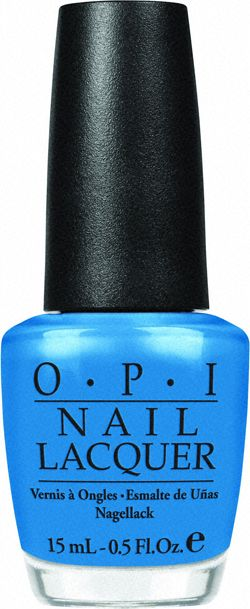 """Ogre the Top"" - one of my favorite summer pedicure colors."
