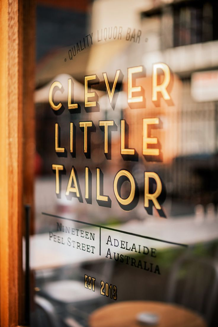 Clever Little Tailor — Adelaide | traditional gold leaf, signwriting