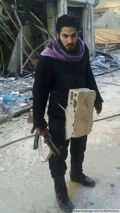 Muslim jihadi wears concrete shield to protect genitals for his 72 virgins...This just shows their insanity... part of me finds this comical: