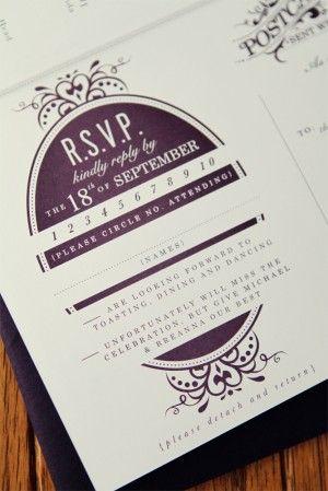 antique wedding invitation RSVP