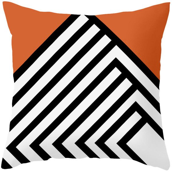 Dot & Bo Pinnacles Pillow in Coral - Pillow Cover Only ($31) ❤ liked on Polyvore featuring home, home decor, throw pillows, pillows, coral home decor, striped throw pillows, coral home accessories, stripe throw pillows and coral accent pillows