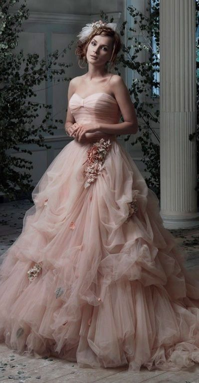 pink wedding dress, Ian Stuart