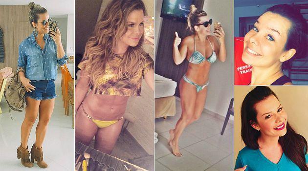 """Fernanda Souza é uma das celebridades brasileiras mais conhecidas por pelas transformações vistas em seu peso e em seu corpo. Cheinha na infância, ela já precisou emagrecer e engordar para interpretar seus diversos papéis na televisão e, recentemente, precisou secar 5 kg para fazer a Mel, de """"A Regra do Jogo"""". D"""