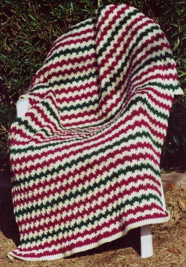 Flame Stitch Afghan Knitting Pattern Knitting Pinterest Free pattern, C...