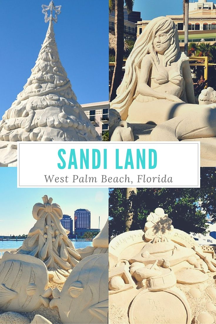 This is a fun holiday event in West Palm Beach, Florida. Christmas themed sand castles in a huge walking display right on the Intracoastal. You won't want to miss it!