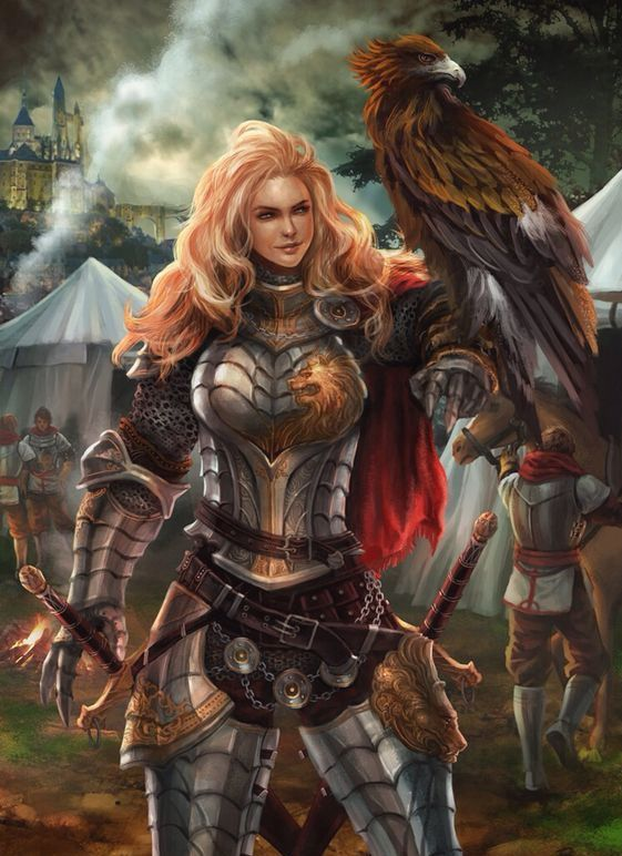 Female Ranger Fighter - Pathfinder PFRPG DND D&D d20 fantasy
