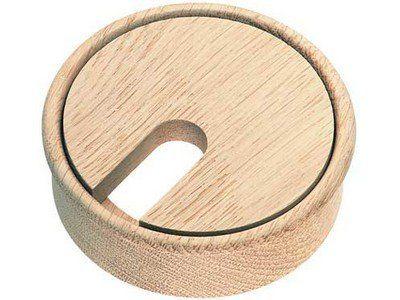 Oak Maple Beech Desk Tidy Cable Grommet - Laquered or Unlaquered. (Oak Unlaquered, wood)