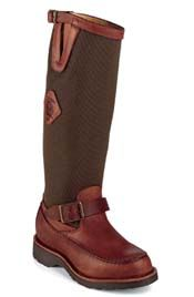Chippewa Moc Toe Snake Boot 23922 with zipper in back for easy entry