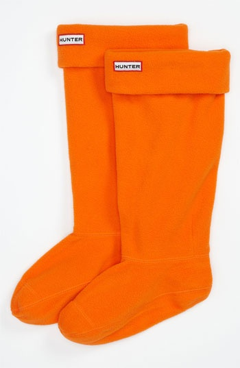 Color Naranja - Orange!!!  Socks for rain boots