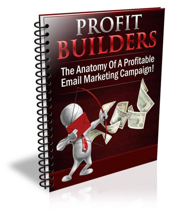 """Email Marketing Ebook - """"Profit Builders - The Anatomy Of A Profitable Email Marketing Campaign""""    Discover the key components of a high-profit email message and how you can maximize your income instantly!    -----------------------------------------------------------------------------    Inside of this special report, you'll discover...    * The complete anatomy of a successful email marketing message and how to craft compelling email copy that is guaranteed to generate positive results…"""