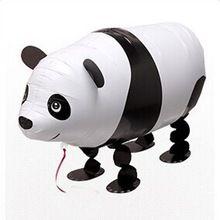 2 stks Aluminium Film Kids Cartoon Panda Ballon Wandelen Ballon Helium Waterstof Ballon Kinderen Speelgoed Partij Decoratie Hot(China (Mainland))