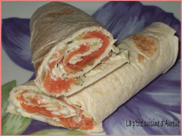 Wraps saumon-tzatziki