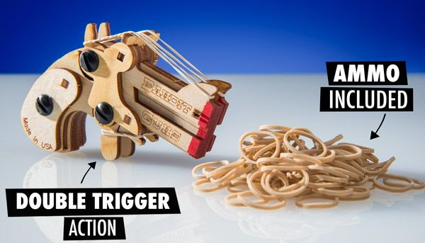 Daisy Derringer Twin Shooter: Make your own pocket-sized rubber band pistol.