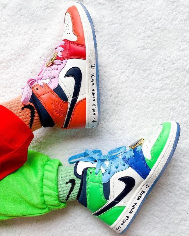 chaussure air jordan 1 fille