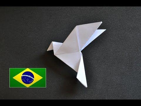 Origami Pomba da paz - Instruções em português PT BR