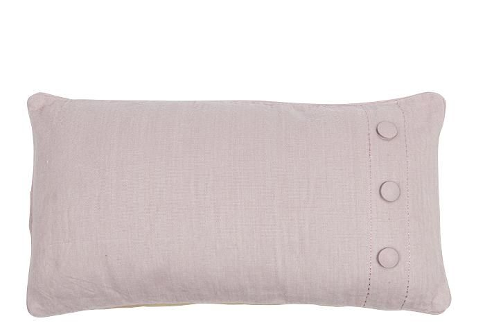 MrsBLOOM: Brushed Cotton Cushion Button old pink 60x30