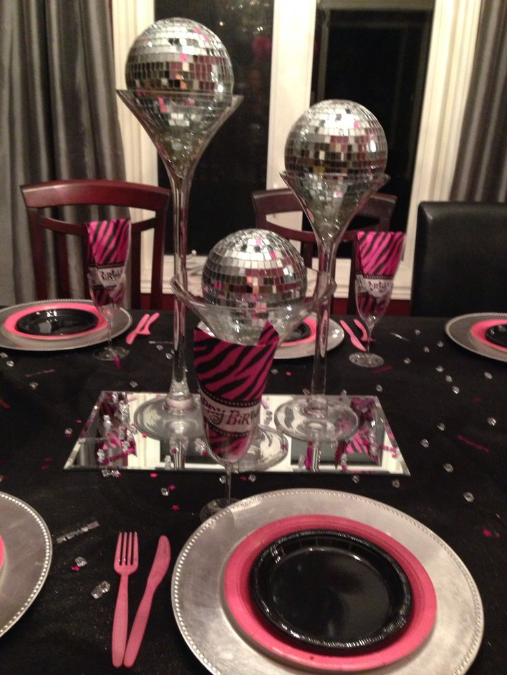 centre piece 13 year old birthday party theme was blling. Black Bedroom Furniture Sets. Home Design Ideas