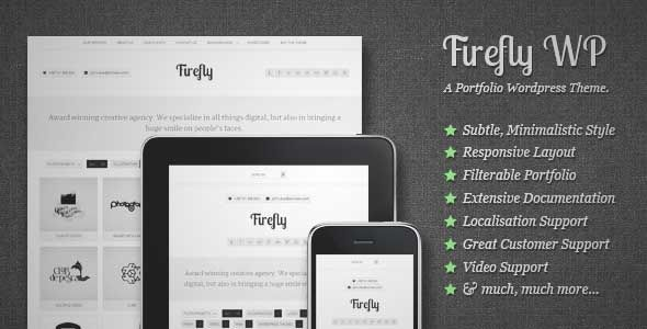 Download and review of Firefly: Responsive & Creative WP Portfolio Theme, one of the best Themeforest Creatives themes