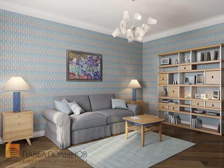Фото: Комната для гостей - Двухуровневая квартира в неоклассическом стиле, ЖК «Жилой дом на Пионерской», 208 кв.м.