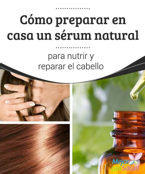 Cómo preparar en casa un sérum natural para nutrir y reparar el cabello Es importante ajustarse a los tiempos de los tratamientos y no excedernos, ya que podríamos provocar alteraciones capilares por el exceso de grasa que nos aportan los aceites