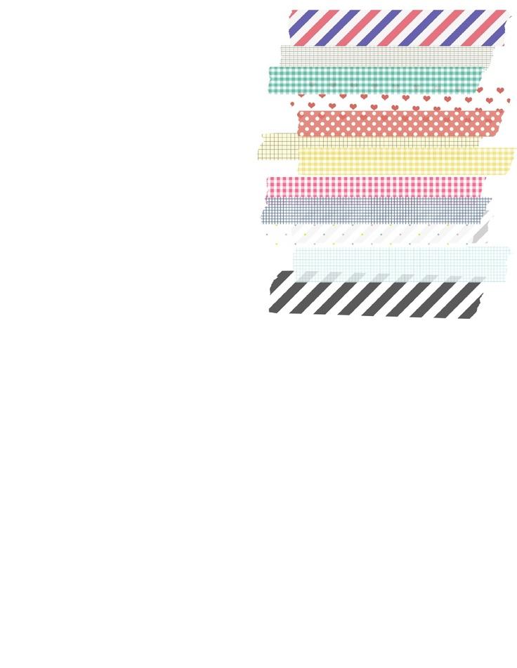 Free printable washi tape calendar 2012-2013