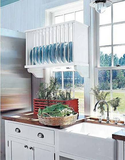 Kitchen Plate Racks | Atticmag | Kitchens, Bathrooms, Interior Design