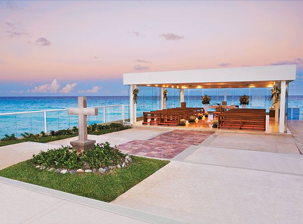 Our Lady Of Guadalupe Oceanfront Chapel Hyatt Zilara Cancun Destination Wedding