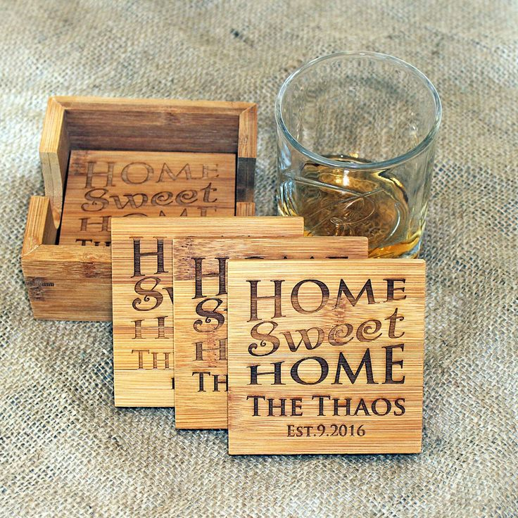 Personalized coasters Home sweet home