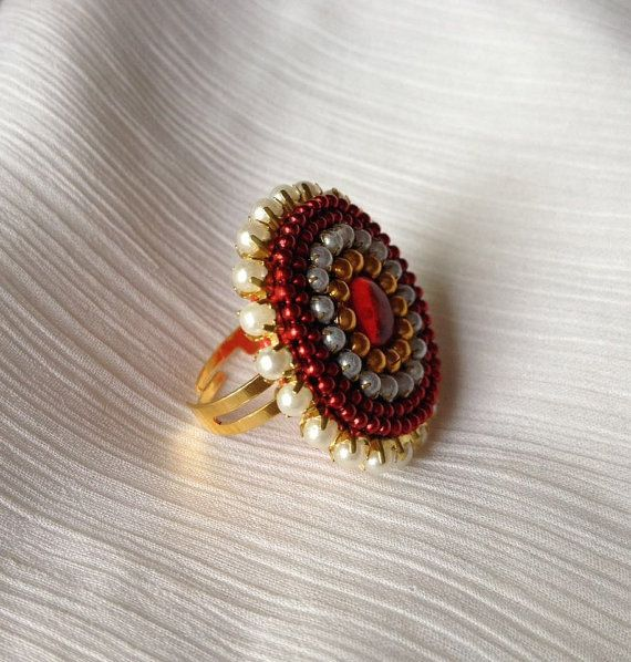 dangling silk thread jhumkas bollywood earrings by CozMHappy