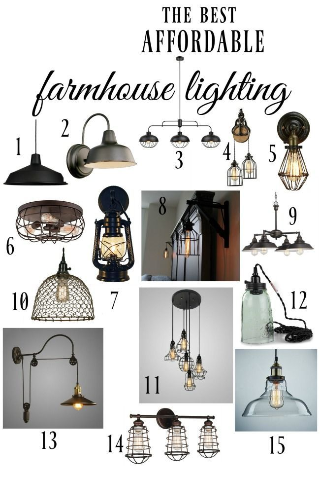 The best affordable farmhouse style lighting options. Must pin for any room of the house and any budget. 15 amazing looks you'll love! | http://www.knickoftime.net
