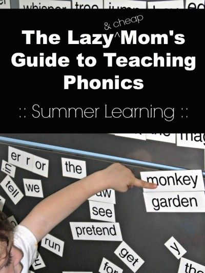 Summer learning ideas.Teach phonics to kids at home with easy activities
