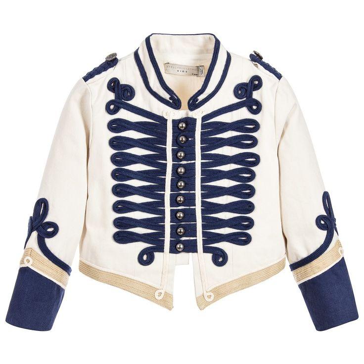 Stella McCartney Kids Ivory Cotton Military Jacket at Childrensalon.com