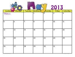 Printable Calendar: Free Printable Calendar May 2013