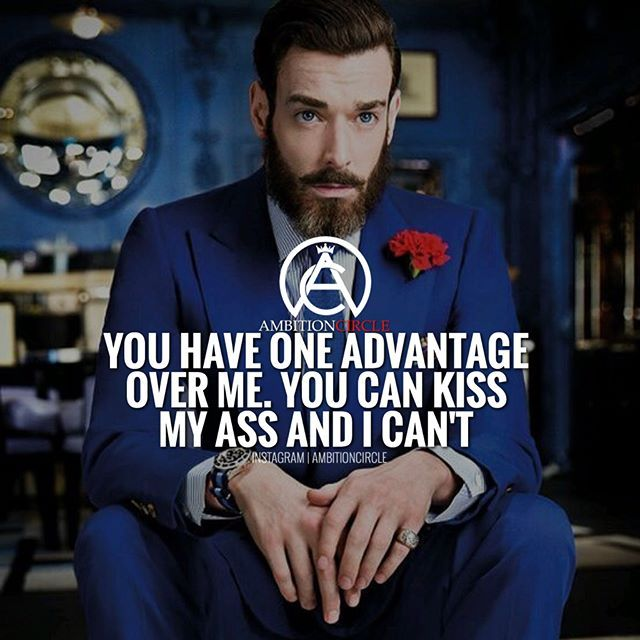 The only advantage someone should have over you...